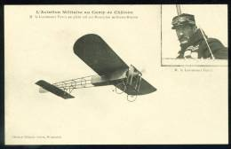CPA. Aviation Militaire Au Camp De Châlons. M. Le Lieutenant YENCE En Plein Vol Sur Un Monoplan Militaire Blériot. - ....-1914: Précurseurs