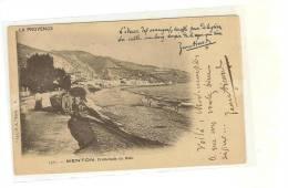 Autographes -  Jean Aicard (1848-1921), Poète, Romancier - Sur Catre Postale De Menton - Voici Mademoiselle Ce Que Vous. - Autographs