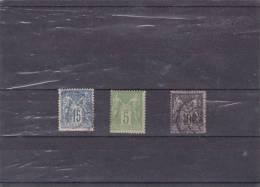 FRANCE : Type Sage Type 3: O : Y&T : 101-102-103 - 1898-1900 Sage (Type III)