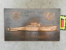 TRES BELLE GRANDE PLAQUE CUIVRE U-BOOT  U-18  !!!!!!!!!!!