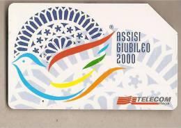 Italia - Scheda Telefonica Usata Da £ 5000 - Assisi Per Il Grande Giubileo Del 2000 - Italia