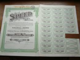SPEED S.A. N° 0651 à 0655 ( Voir Photo Pour Detail )! - Actions & Titres