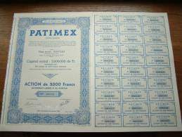 PATIMEX Anvers N° 000310 ( Voir Photo Pour Detail )! - Aandelen