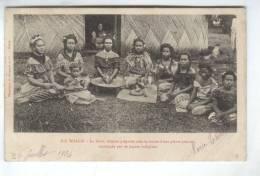 CPA ILE WALLIS, LE KAVA EN 1904!! (timbre No 45) - Wallis Et Futuna