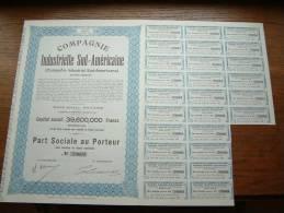Cie INDUSTRIELLE SUD - AMERICAINE N° 79604 ( Voir Photo Pour Detail )! - Actions & Titres