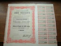 Anc. Etab. Louis VOLKAERTS N° 000094 ( Voir Photo Pour Detail )! - Actions & Titres