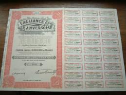 L'ALLIANCE ANVERSOISE N° 3416 ( Voir Photo Pour Detail )! - Actions & Titres