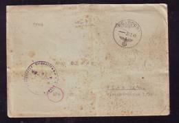 FELDPOST, CENSORED, LETTER,1945, GERMANY TO ROMANIA - BRD