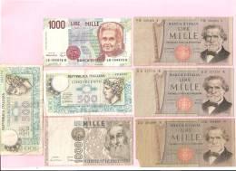ITALIE - Lot De 7 Billets - Unclassified