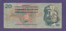 CZECHOSLAVAKIA 1970,   Banknote,  Used VG., 20 Korun  Km Nr. 92 - Tsjechoslowakije