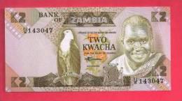 ZAMBIA 1980,   Banknote,  Mint UNC.2 Kwacha KM Nr. 24 - Zambia