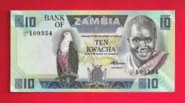 ZAMBIA 1980,   Banknote,  Mint UNC. 10 Kwacha KM Nr. 26 - Zambia