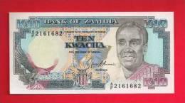 ZAMBIA  ,   Banknote,  Mint UNC. 10 Kwacha KM Nr. - Zambia