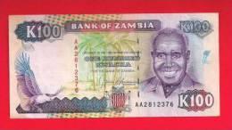 ZAMBIA  ,   Banknote,  Mint UNC. 100 Kwacha KM Nr. - Zambia