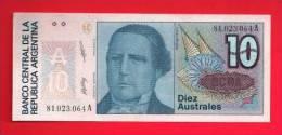 ARGENTINA 1986,   Banknote,  Mint UNC. . 10 Australes,  KM Nr. 325 - Argentina