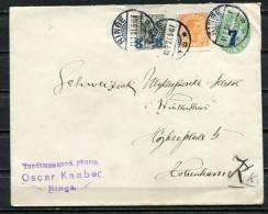 Denmark 1921 Uprated Postal Stationary Cover Overprint - 1913-47 (Christian X)