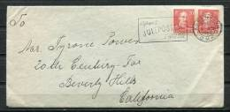 Denmark 1946 Cover To USA  Stamps In Pair - 1913-47 (Christian X)