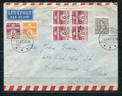 Denmark 1947 Cover To USA Stamps Block Of 4   +++ - 1913-47 (Christian X)