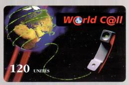 Télécarte Prépayée Usagée: WORLD CALL Terre , Téléphone - 120 Unités - Frankreich