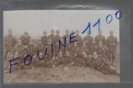 Carte Photo Militaire ( Allemand  Je Pense ) Voir Les écrits Au Dos ( Casque à Pointe ) - Regimenten