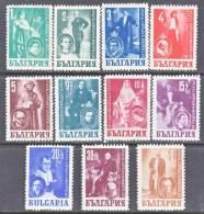 Bulgaria 596-601, B22-6  * THEATER   ACTORS - 1909-45 Kingdom