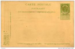 BELGIQUE - PHILATELIE - ENTIER POSTAL - Stamped Stationery