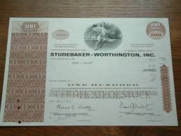 STUDEBAKER WORTHINGTON INC. N° A 47184 / + Extra Publicity ( Voir Photo Pour Detail )! - Automobile