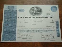 STUDEBAKER WORTHINGTON INC. N° N 075312 ( Voir Photo Pour Detail )! - Automobile