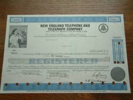 NEW ENGLAND TELEPHONE AND TELEGRAPH CY N° R 26518 ( Voir Photo Pour Detail )! - Actions & Titres