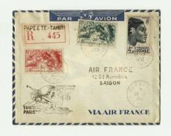 PAPEETE - TAHITI R SAIGON Obl.1950