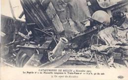 77 Seine Et Marne,Train Poste, Catastrophe De Melun Lot De 3 Cartes - Postal Services