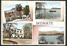 TRAVEDONA MONATE Villa Motta Scorcio Visto Dal Castello Lago Panorama Varese 1963 - Varese