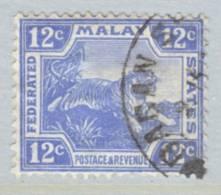 Malay 65  (o)  Wmk 4 Script CA  TIGER - Federated Malay States