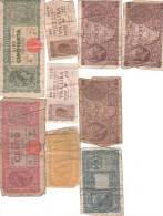 Lire Lires Lira Italia Italie Lot De 9 Billets Etat Moyen - [ 2] 1946-… : Republiek