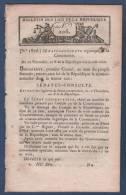 AN X BULLETIN DES LOIS DE LA REPUBLIQUE - CONSTITUTION COLLEGES ELECTORAUX / CONSULS A VIE / SENAT / CORPS LEGISLATIF / - Gesetze & Erlasse