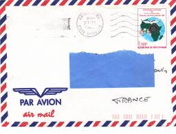 Z2] Enveloppe Cover Côte-d'Ivoire Ivory Coast Rotary Paix Peace Carte Map Drapeau Flag - Rotary Club