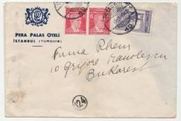 Turkey - Istanbul 1942 - Envelope - Pera Palas Oteli - Turkey