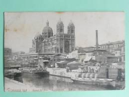 MARSEILLE - Canal ST JEAN, Péniches Chargées De Tonneaux, Cathédrale - Voir Cachet Au Verso - Zonder Classificatie
