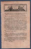 AN X BULLETIN DES LOIS DE LA REPUBLIQUE - ATELIERS DU TIMBRE - BRUXELLES - ANVERS - CAEN - ILE D´ELBE - PONTS IVRY 27 - Decretos & Leyes