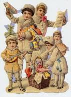 ENFANTS à NOEL  Cadeaux Panier MUSIQUE Lampion 13 X 17 Cm - Kerstmotief