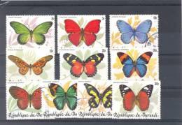 BURUNDI 1984 ISSUE BUTTERFLIES COB 918/27 USED - Burundi