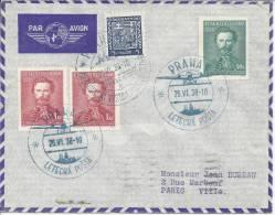 TCHECOSLOVAQUIE - 1938 - EXPOSITION PHILATELIQUE  INTERNATIONALE  A PRAGUE -  TB  - - Lettres & Documents