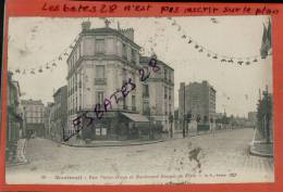 CPA 93 ,  MONTREUIL , Rue Victor-Hugo, Bouleard Rouget De L'Isle,  Petit Personnage, Nov 2012 GER-0415 - Montreuil