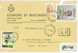 BULCIAGO  22060  PROV. COMO  - ANNO 1981- R   -TEMATICA COMUNI D´ITALIA - STORIA POSTALE - Affrancature Meccaniche Rosse (EMA)