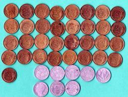 LOT De TYPE MORLON 1941 Bronze Allu. ( 33 )  1941 Allu ( 3 )  ETAT FRANCAIS 1942 Allu. ( 3 ) - Monedas & Billetes