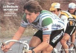 Paul SHERWEN, Autographe Manuscrit, Dédicace. 2 Scans. La Redoute Motobécane - Cycling
