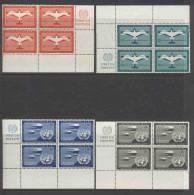 UN New York 1951 4-block Michel 12-15RZf - Blocchi & Foglietti