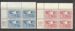UN New York 1954 4-Block Michel 35-36 RZf - Blocchi & Foglietti