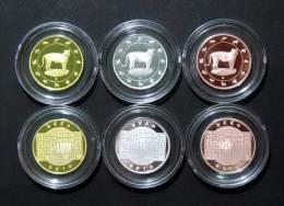 Thailand Comm 3 Coins 2010 Zodiac Year Of The Tiger - Thaïlande