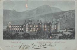 UK - Edinburgh - Holyrood Palace & Arthur's Seat (1901, One Penny Stamp, Rare) - Midlothian/ Edinburgh